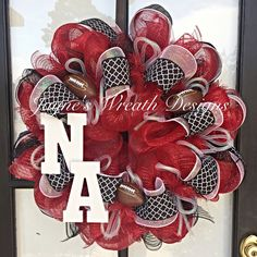 Nazareth's Academy Football Wreath by Jayne's Wreath Designs on fb and Instagram