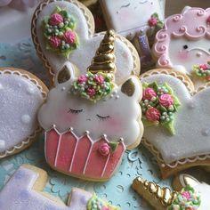 Unicorn cupcake cookies