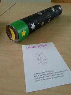 Sterrenkijker. Crafts For Kids, School, Planets, Crafts For Children, Kids Arts And Crafts, Kid Crafts, Craft Kids