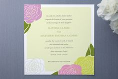 Wedding Invitations ... Not for the designs, but for layout and wording inspiration!