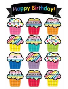 Schoolgirl Style Just Teach Birthday Printable Chart Birthday Chart For Preschool, Birthday Chart Classroom, Birthday Bulletin Boards, Birthday Charts, Birthday Chart Design, Classroom Birthday Displays, Class Birthday Display, Neon Birthday, Birthday Wall