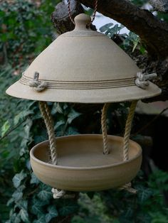 Small hanging feeder for chickadees, sparrows and other small birds small diameter bottom edge of the hood is 20-21 cm, diameter 15.5 cm