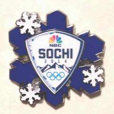 2014 winter olympics | Sochi 2014 Russian Winter Olympic Games NBC Sochi Snowflake Pin New ...
