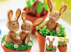 Mini Quilled Bunnies