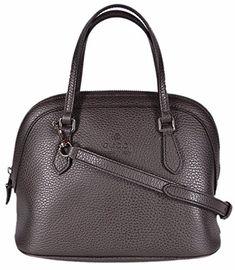 h14 Bree bolso bolso de mano bolsa de cuero negro crossbody marrón