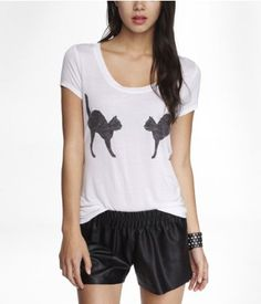 SCOOP NECK GRAPHIC TEE - BOO TO YOU TOO | Express