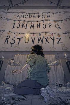 'Stranger Things (RUN)' Poster by -lumossolem- illustrations Stranger Things Tumblr, Stranger Things Aesthetic, Stranger Things Netflix, Stranger Things Wall, Film Manga, Illustrator, Animation, Image Hd, Tv Series