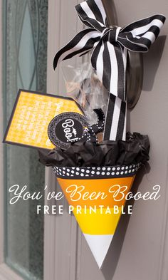 Free printable to boo your neighbors at Halloween