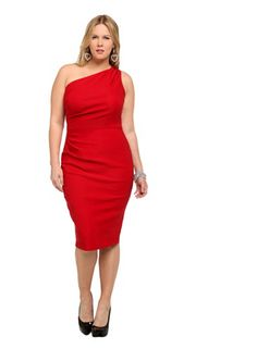 Torrid One-Shoulder Wiggle -  New Year's Eve plus size options