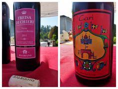 Freisa and Carì wines from Vigna della Regina, Turin