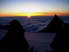 sunrise on summit day • above the clouds by slopjop, via Flickr
