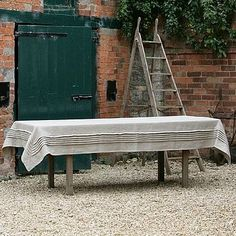Rustic Chic Pleat Table Linen by Blueblack & Red