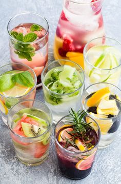Stay hydrated with these 8 Infused Water recipes! Inspired by The Flavor Bible, these fruit and herb combinations will encourage you to drink more water. Unless you woke up thirsty at a. Infused Water Recipes, Fruit Infused Water, Fruit Water, Water Water, Healthy Detox, Healthy Eating Tips, Healthy Nutrition, Healthy Water, Clean Eating