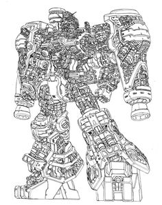 I love Line-art especially this slick GP02 ★ || CHARACTER DESIGN REFERENCES (https://www.facebook.com/CharacterDesignReferences & https://www.pinterest.com/characterdesigh) • Love Character Design? Join the Character Design Challenge (link→ https://www.facebook.com/groups/CharacterDesignChallenge) Share your unique vision of a theme every month, promote your art in a community of over 25.000 artists! || ★