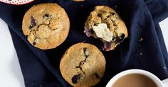Healthy blueberry oatmeal muffins that you can feel good about eating! Made with a mix of almond and oat flour. Dairy free & gluten free.