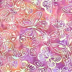 Batik butterfly design.