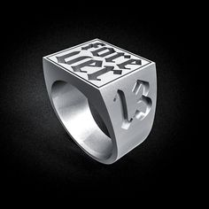 Forever 13 | Lettering | Rings | Anel masculino | Tattoo | Lifestyle | Letter | tipography | Art  | Joias | jewelry  | Joias | jewelry