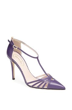 """""""I'm a firm believer in wearing color as a neutral, and our Carrie in purple is the perfect example. This shoe is surprisingly sexy and yet slightly old fashioned. The perfect everyday shoe to be worn for any occasion, whether it's a night out with friends or a quick stop into Taim for falafel."""" - SJP  