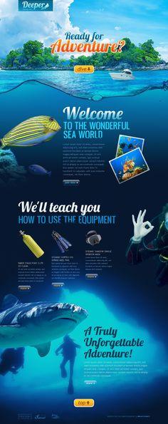 Like scuba diving? This is your template! Diving Logo, Scuba Diving, Sea Web, Graph Design, Ui Design, Photoshop Course, Water Logo, Web Design Software, Mobile Web Design