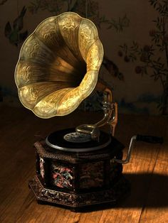 Another beautiful grammophone horn and love the rounded base.