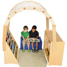 This cozy reading arch can be shared and store books! Great for elementary and preschool! https://goo.gl/yljf4S