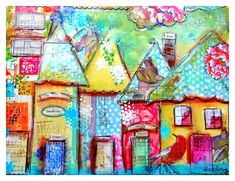 Art Print Collage Work Whimsical by cathymichaelsdesign on Etsy, $12.00