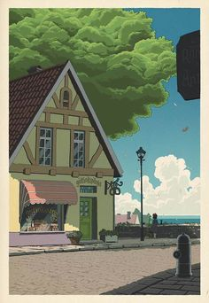 If Studio Ghibli film posters were made as traditional Japanese wood-cut prints