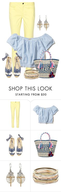 """""""Untitled #2264"""" by anfernee-131 ❤ liked on Polyvore featuring 10 Crosby Derek Lam, Hollister Co., Soludos, YOSUZI and Kendra Scott"""