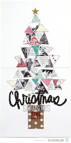 Great idea for a Christmas canvas or scrap page Christmas snapshots 2014 by just g at Christmas Scrapbook Layouts, Scrapbook Blog, Scrapbooking Layouts, Scrapbook Cards, Christmas Poster, Christmas Photos, Christmas Crafts, Christmas Ideas, Christmas Layout