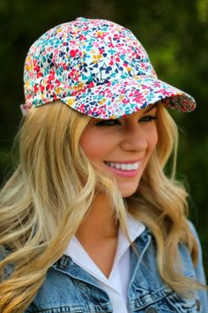 Cap it off #baseball cap #preppy #floral