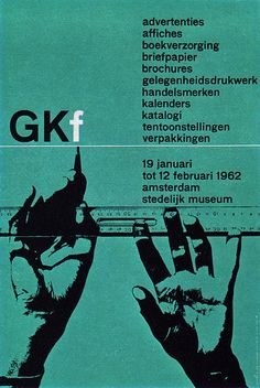 GKf, 1962. Poster designed by Wim Crouwel