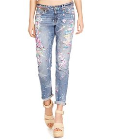 Polo Ralph Lauren Slim-Fit Boyfriend Jeans, Jettson Paint Wash - Jeans - Women - Macy's