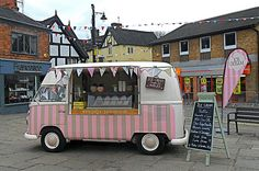 Sandbach Transport Festival - Introducing Florence ice cream van hire wedding hire http://www.pollys-parlour.co.uk/