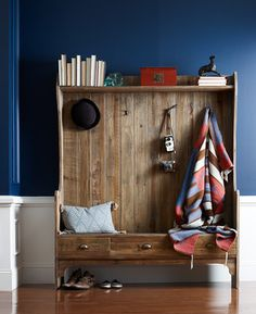 "Entry Bench with Storage and Coat Rack traditional-hall-trees (just liked this and want to remember for ""one day"")"