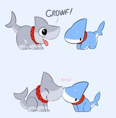"Draw Sharks Marvel: ""Infinity War is the most abmisious crossover event in history"" Me: Baby Animals, Funny Animals, Cute Animals, Cute Animal Drawings, Cute Drawings, Pet Shark, Cute Comics, Amazing Drawings, Cute Creatures"