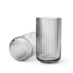 Lyngby vase - 25 cm - grå røg