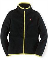 Ralph Lauren Girls' Contrast-Trim Fleece Jacket