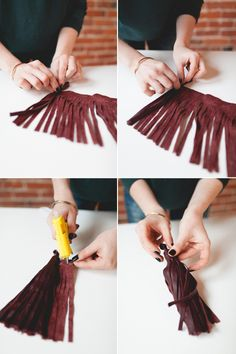 4 Easy Steps For Developing A Sunroom Diy Pendant Leather Tassel Sunroom Diy, Diy Tassel Bunting, Ice Dyeing, Do It Yourself Crafts, Diy Projects To Try, Weekend Projects, Nature Crafts, Leather Tassel, Homemade Gifts