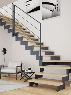 Loft Staircase, House Stairs, Small Space Interior Design, Interior Design Living Room, Small Space Stairs, Space Interiors, Design Case, Small Living Rooms, Modernism