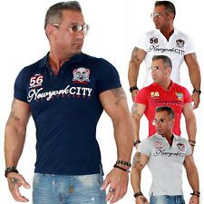 Trendy Herren Shirt T Shirt Polo Poloshirt Polohemd Clubwear Slim FIT NEU 16106 | eBay