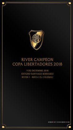 Fondo de Pantalla River Plate para Celular – River Campeón Copa Libertadores 2018 Neymar, Messi, Escudo River Plate, River Tattoo, Argentina Football, Bernabeu, River I, Football Wallpaper, Carp