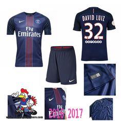 Promo Maillot Du Paris Saint-Germain Bleu Enfant (DAVID LUIZ 32) Domicile…