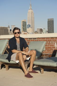 Rooftop Relaxing spring summer look menswear style blog