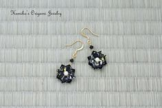 Origami Flower Earrings with Plated 14KG & by KumikosOrigami