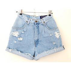 SALE - High Waisted Vintage Shorts ($45) ❤ liked on Polyvore