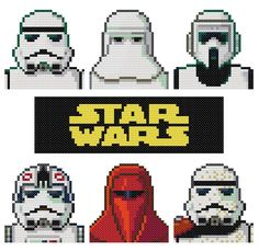 Set of 4 Star Wars Parody Cross Stitch by KeenahsCrossStitch