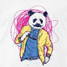 Retro, Art, Pandas, Funny Shirts, Heather Grey, Drawing S, Craft Art, Rustic, Kunst
