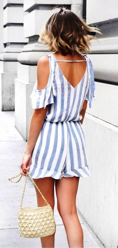 #summer #outfits Sale Alert! Remember This Striped Romper From The Beginning Of Summer? It's Now Under $23! ✨ #trendysummeroutfits