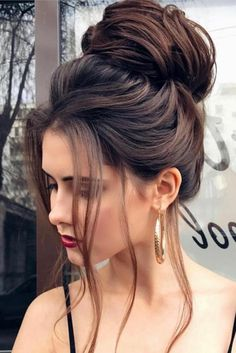 53 Latest Casual Hairstyles for 2019 – Get Your Inspiration TODAY! 53 Latest Casual Hairstyles for 2019 – Get Your Inspiration TODAY!, Latest Casual Hairstyles Everyone knows that to create a perfect image it is necessary not only to choose the right clot Easy Bun Hairstyles For Long Hair, Short Hair Bun, Casual Hairstyles, Elegant Hairstyles, Wedding Hairstyles, Updo Hairstyle, Black Hairstyle, Bun Updo, Hairstyle Ideas