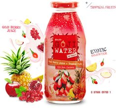 Exotic Gojiwater : Goji Berry Juice + Tropical Fruits